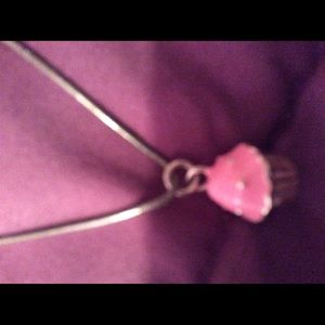 Pink cup cake charm